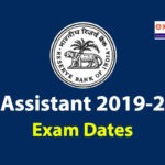 RBI Assistant 2019-2020 Exam Date