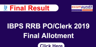 IBPS RRB CRP VII Mains Result 2019