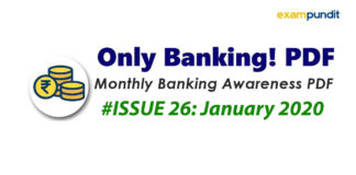 Monthly Banking Awareness PDF January 2020