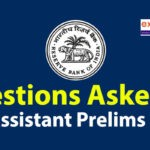 Questions Asked in RBI Assistant Prelims 2020