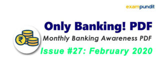 Monthly Banking Awareness PDF February 2020