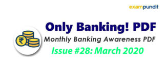 Monthly Banking Awareness PDF March 2020