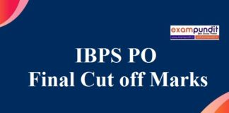 IBPS PO Final Cut off Marks