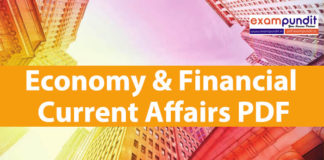 Economy & Financial Current Affairs PDF