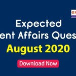 Expected Current Affairs Questions August 2020